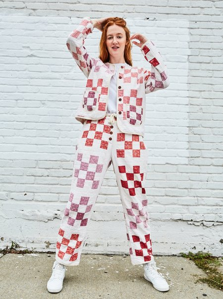 Marvin Ruby Sixteen Patch Quilted Pant