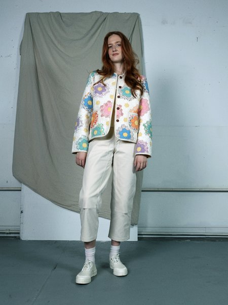 Marvin Ruby Twin Garden Quilted Jacket - white