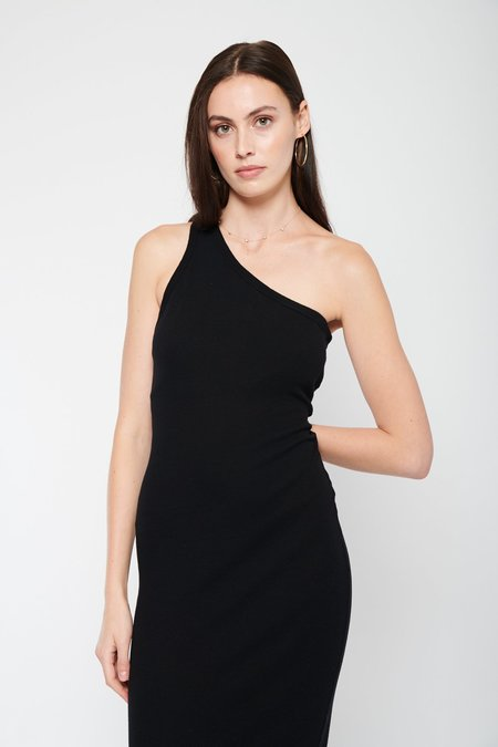 Enza Costa Recycled One Shoulder Maxi Dress