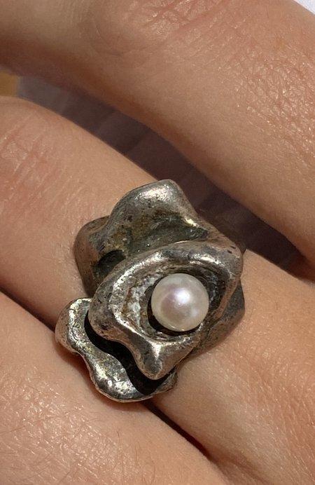 Vintage Brutalist Silver Ring