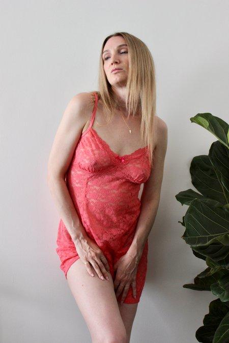 Vintage Lace Slip - Peachy Pink