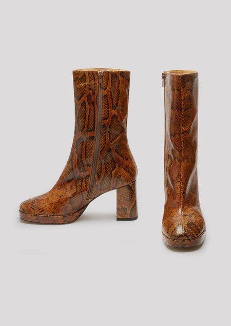 Miista Carlota Boots - Citrine Snake