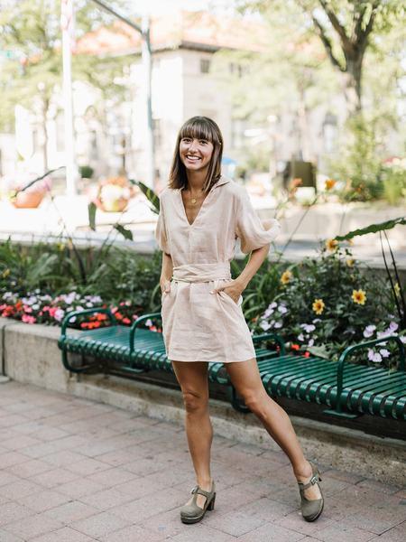 Lilya Calma Mini Dress - Peach
