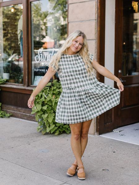 Lilya Samba Dress - Green Check