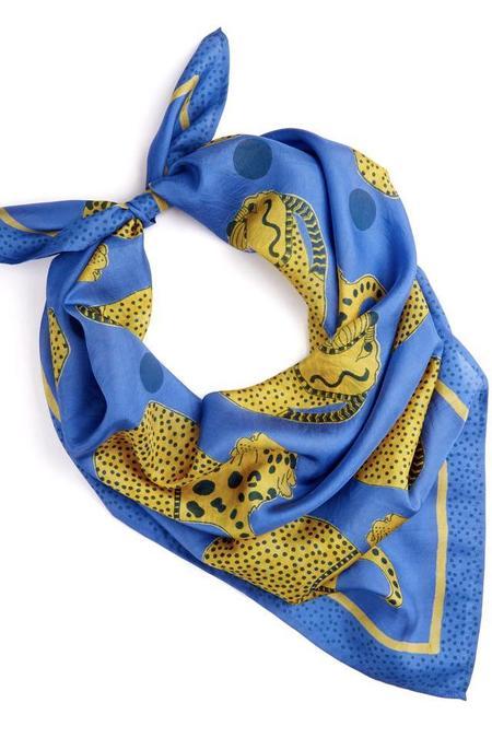 Block Shop Textiles Vessels Silk Scarf - Cobalt