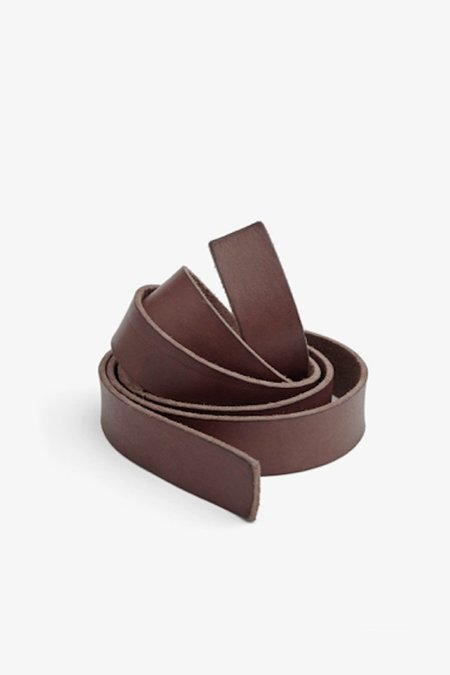 Forte Forte Washed Leather String Belt - Testa di Moro