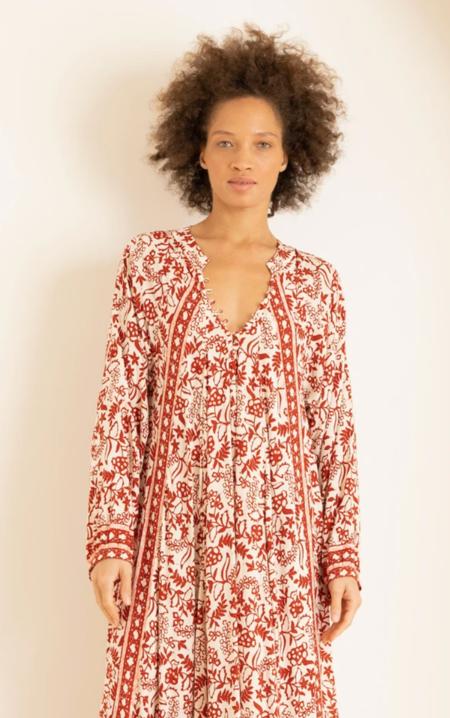 fiore short dress shadow print dress - red
