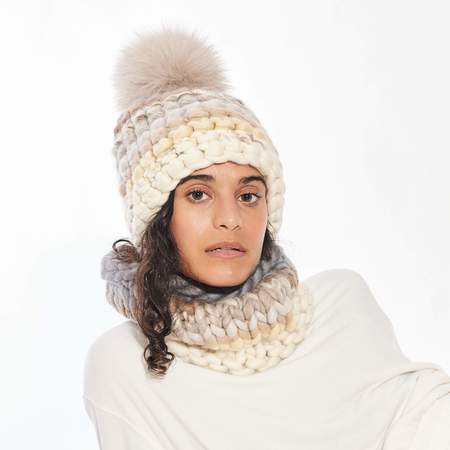 Mischa Lampert small snood scarf - neutral