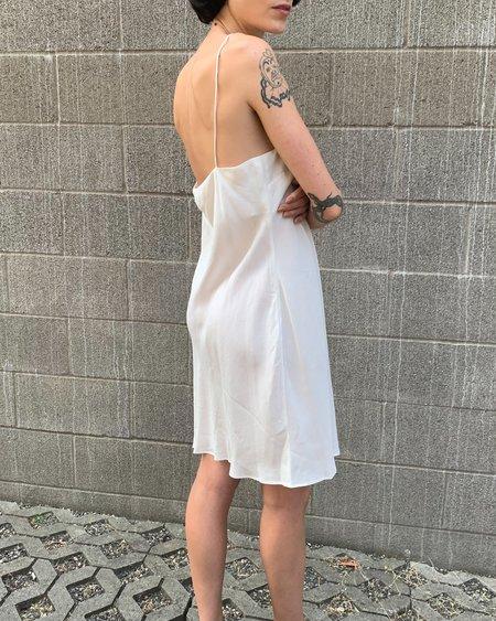 Vintage Silk Zimmerman Dress - White