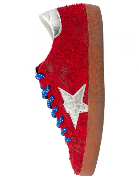 Golden Goose Superstar Classic Hairy Suede - Red