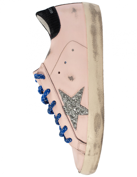 Golden Goose Leather Superstar Sneakers  - Pink