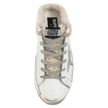 Golden Goose Superstar Lined Sneakers - White Fur