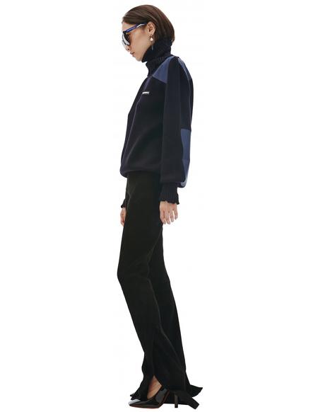 Vetements Wool Destroyed Turtleneck Sweater - Navy Blue