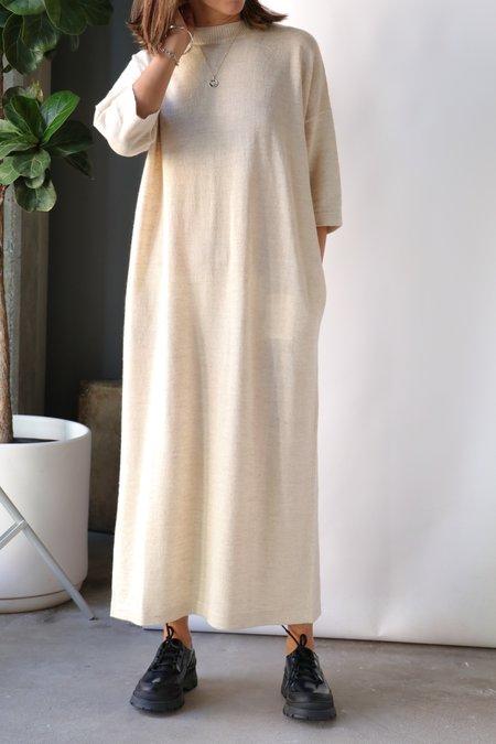 Lauren Manoogian Facil Crewneck Dress - Ecru Flax