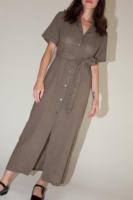 Our Legacy Narrow Shirt Dress - Dark Olive