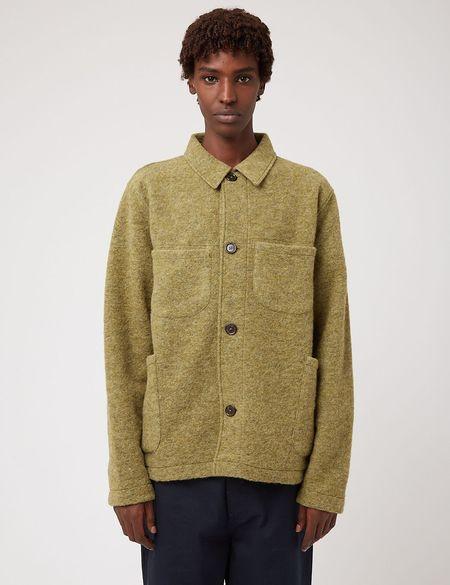 Universal Works Lumber Wool Fleece Jacket - Green