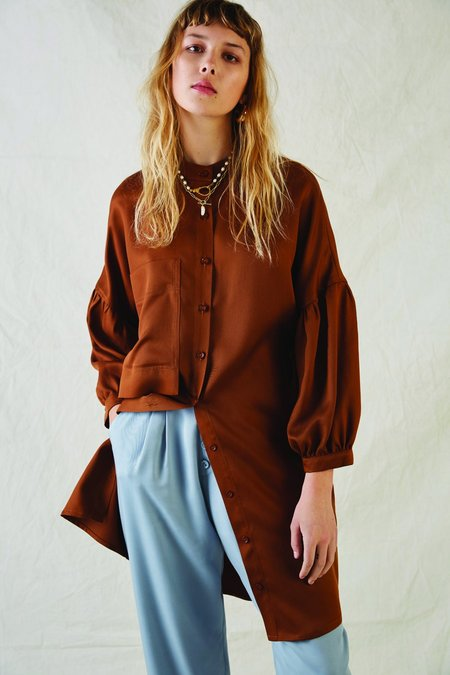 EVE GRAVEL AW21 EASTWOOD DRESS - COPPER
