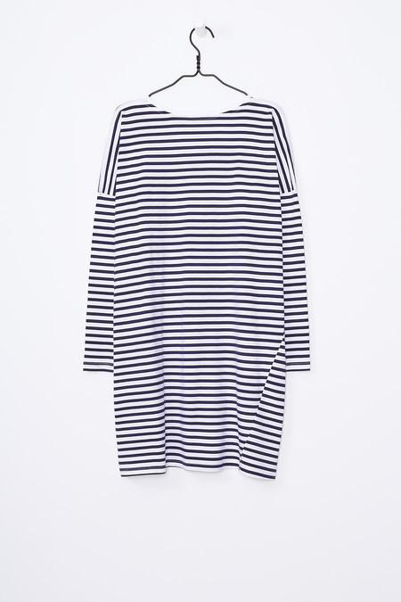 Kowtow Oversized Dress - Blue White Stripe