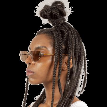 Y/project Linda Farrow Edition Sunglasses - Tortoiseshell/Light Gold