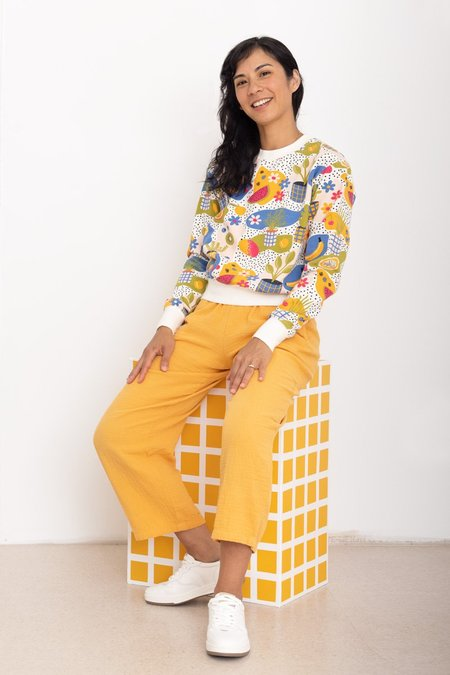 North Of West Alex Double Cloth Pant - Marigold