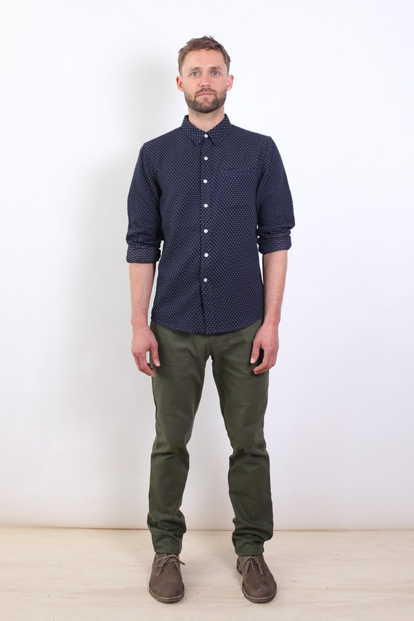 Men's Bridge & Burn Clark Navy Polkadot