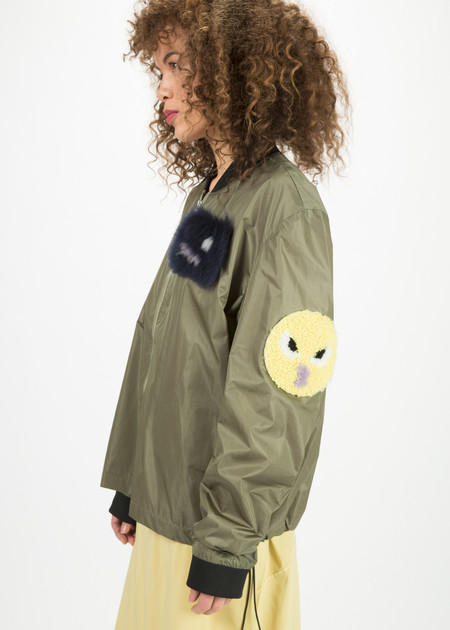 Anne Vest Birch Emoji Bomber Jacket