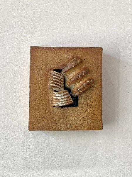 Yue Zhou Studio Ceramic Wall Hanging 8 - Brown