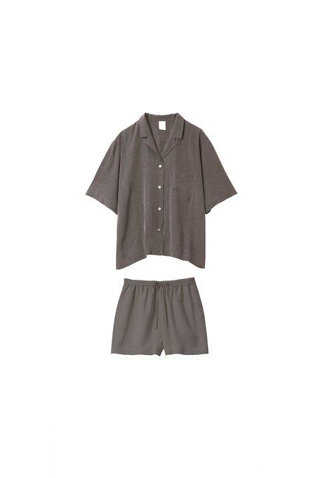 The Silky Set Shirt and shorts