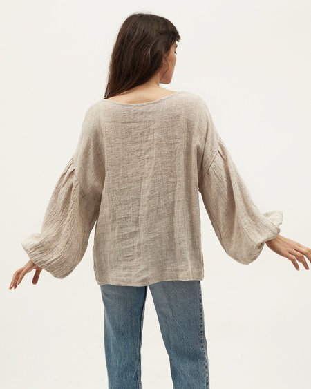 BEFORE MARCH Bella Blouse - Oatmeal
