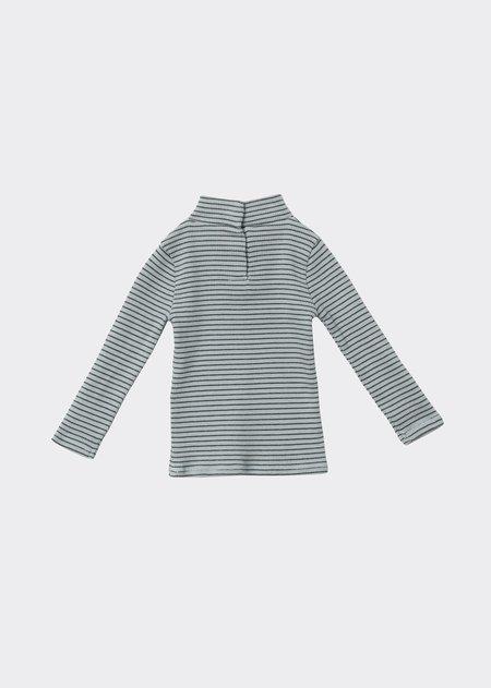 Kids Caramel Forgo T-Shirt - Mint/Chocolate Stripe
