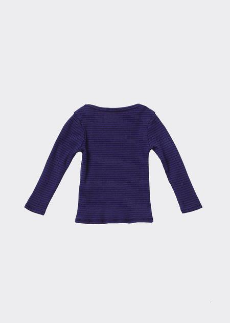 Kids Caramel Kishon T-Shirt - Blue/Chocolate Stripe