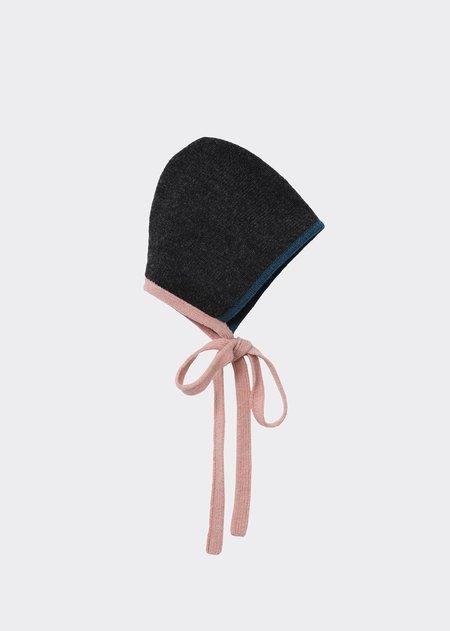 Kids Caramel  Maik Baby Bonnet - Grey Melange