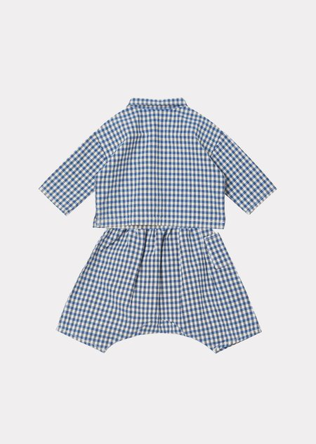 Kids Caramel Rossi Baby Set - Blue Check