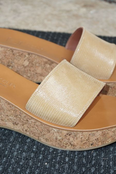 Pre-loved K. Jacques Kirielle Wedge - Tejus Camel