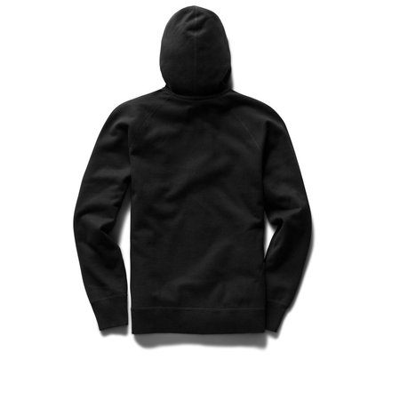 Reigning Champ Mid Weight Drop Shadow Relaxed Fit Pullover Hoodie - Black