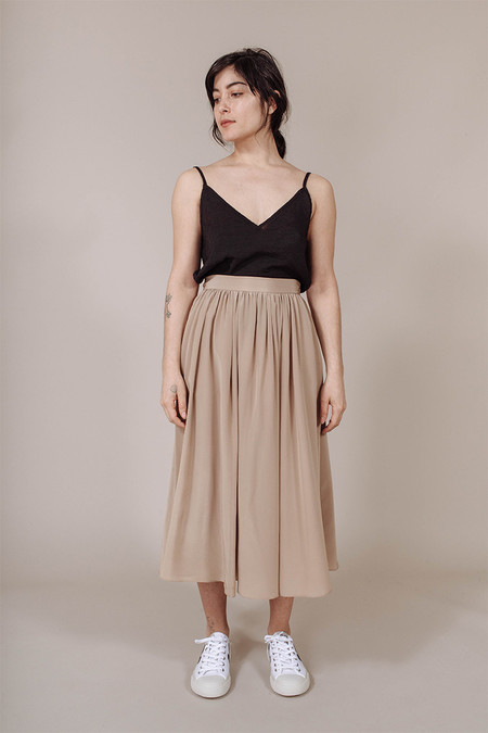 PLANTE Rose Skirt in Putty
