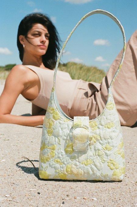 IMAGO-A Nº44 Lucite Buckle Mini Bag - Floral Brocade