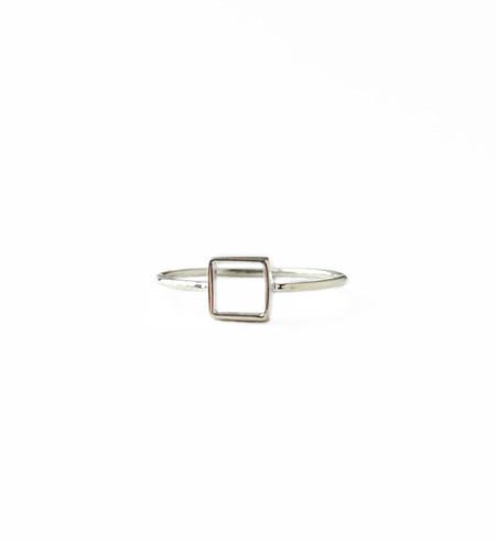 Mociun Silver Square Ring