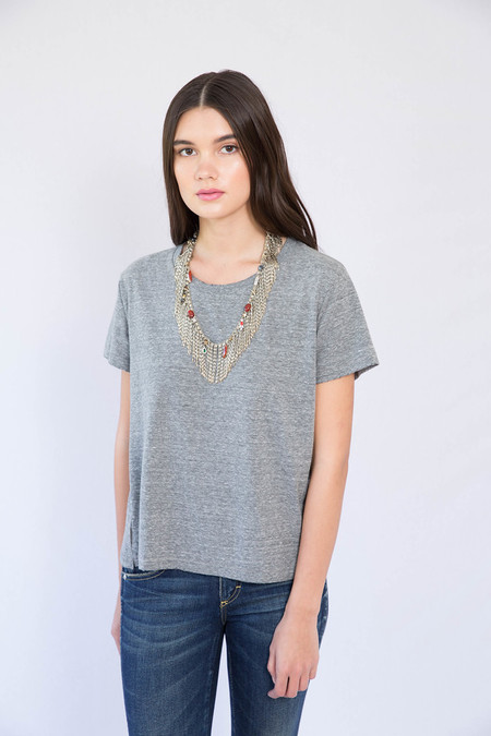 AMO Heather Grey Twist Tee