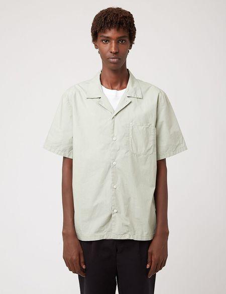 Bhode Revere Collar Shirt - Sage Green