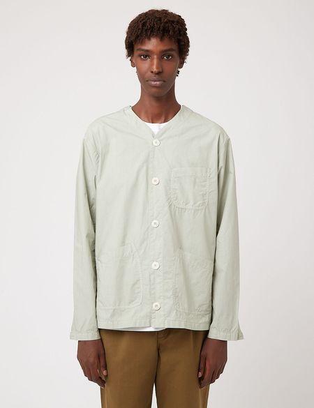 Bhode Railroad Italian Poplin Shirt - Sage Green