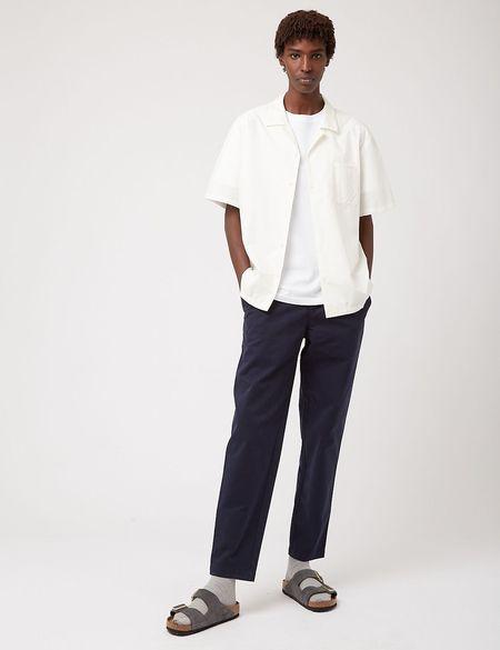 Bhode Revere Italian Poplin Collar Shirt - Ecru