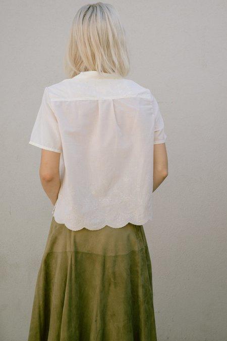 Jess Meany Eyelet Lounge Shirt - Pale Pink