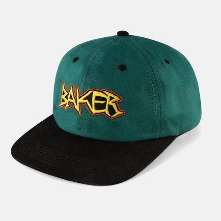 Baker Dagger Snapback Cap - Teal/Black