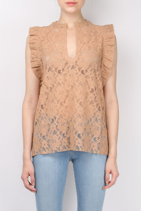 (nude) Lace Tank Top
