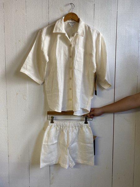 Conrado Izzy Linen Sleep Set - Off White