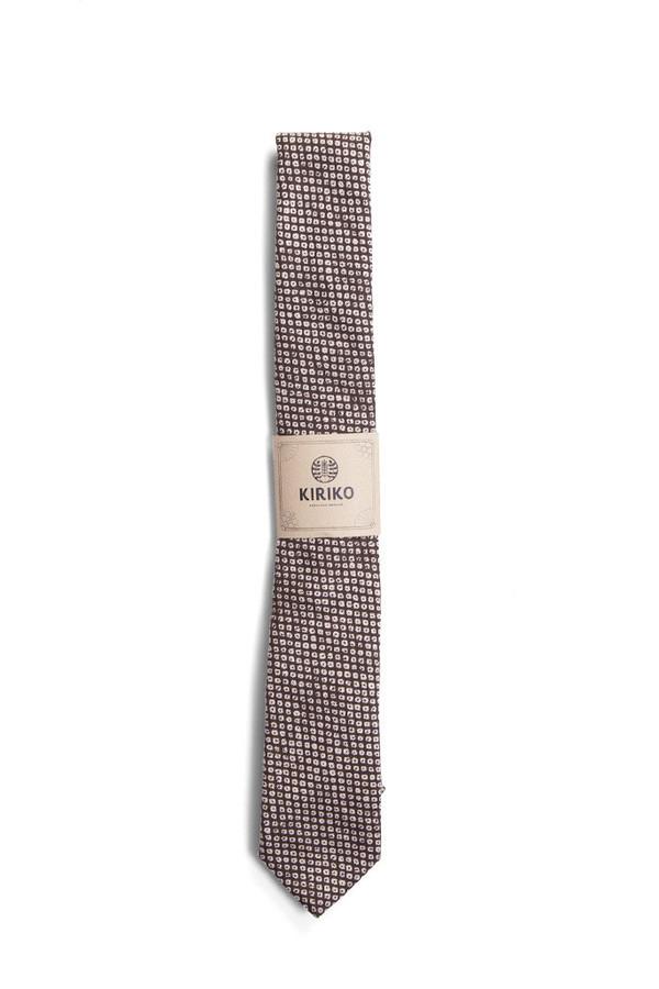 Kiriko Kauyuki Shibori Print Tie