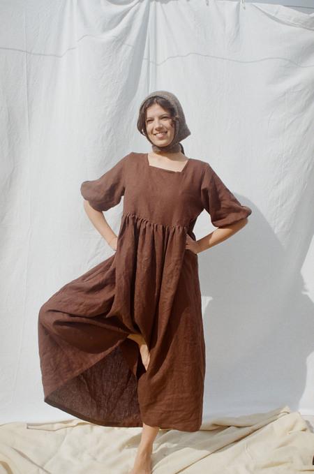 Mimi Holvast Layla Dress - Brown