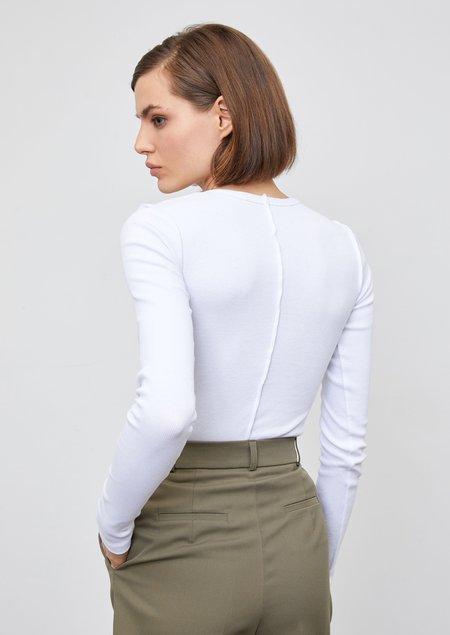 Yuliawave Cotton Long Sleeve Shirt - White