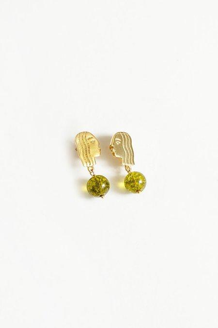 Wolf Circus Paloma Peridot Earrings - Gold